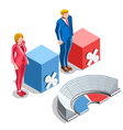 Election Infographic Congress Us Isometric People vector image vector image