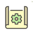 engineering drawing concept icon design on vector image vector image