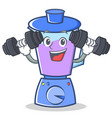 fitness blender character cartoon style vector image