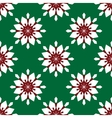 Flowers snowflakes on a green background vector image vector image