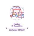 freedom association concept icon