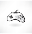 gamepad grunge icon vector image