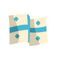 Georgian flag with five blue crosses streaming in