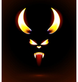 Glowing silhouette of the satan vector image