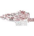graffiti word cloud concept vector image