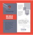 grave company brochure title page design company vector image vector image