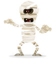 halloween mummy character vector image vector image