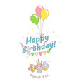 Happy birthday party greeting card invitation