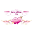 Happy Valentines day border Cupid arrow heart vector image