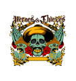 heroes and thieves vector image vector image