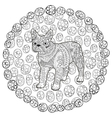 High detail patterned french bulldog vector image vector image