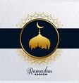 islamic ramadan kareem golden mosque background vector image vector image