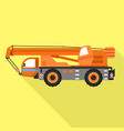 lift heavy truck icon flat style vector image