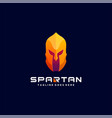 logo spartan colorful style vector image