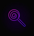 lollipop colored line icon on dark vector image
