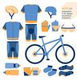 mountain bike kit infographic element vector image