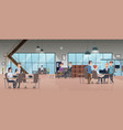 open office interior business people workspace vector image