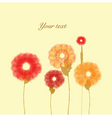 painted flowers on vanilla background vector image vector image