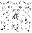 Party set doodle art vector image vector image