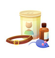 pet shop items collection vector image vector image