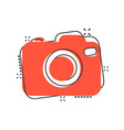 photo camera icon in comic style photographer cam vector image vector image