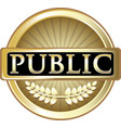 public gold icon vector image vector image