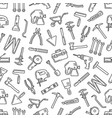 repair tools thin line seamless pattern background vector image vector image