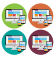 responsive web desing elements vector image