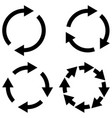set reload refresh icon spinning arrows in circle vector image vector image