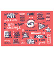 set vintage retro 2020 election badges vector image