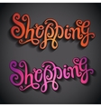 Shopping hand lettering vector image