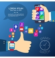 Smart watch synchro concept vector image vector image