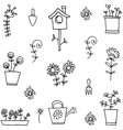 spring doodle set vector image vector image