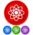 symbolic molecule atom symbol icon for chemistry vector image