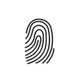 three fingerprint types on white background loop vector image vector image