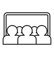 webinar audience icon outline style vector image vector image