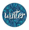 Winter hand written calligraphy word Winter card vector image