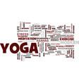 yoga for modern city life yoga helps ease modern vector image vector image