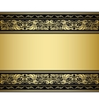Gilded ornmaments and patterns vector image