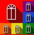 window simple sign set of icons with flat vector image