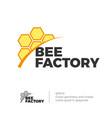 bee honey logo vector image