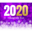 2020 new year happy card background party vector image