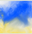 abstract blue and yellow watercolor texture vector image vector image