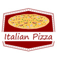 An Italian pizza label vector image