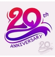 Anniversary Design Template celebration sign vector image vector image