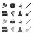 banjo piano harp metronome musical instruments vector image vector image