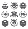 Black pork labels vector image vector image