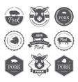 black pork labels vector image vector image
