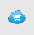 Blue shopping cart icon vector image vector image