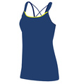 Blue yoga clothing vector image vector image